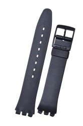 Swatch Strap Classic Black 17mm 'Once Again' AGB743