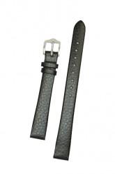 Hirsch 'Dakota' Black Leather Strap, 14mm,M