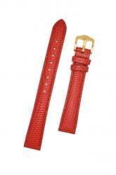 Hirsch 'Rainbow' M Red Leather Strap, 14mm