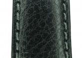 Hirsch 'Forest' 18mm Black Soft Calfskin ,M, Leather Strap