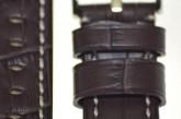 Hirsch 'Knight' XL 22mm Brown Leather Strap