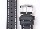 Hirsch 'Liberty' 18mm Black Strap