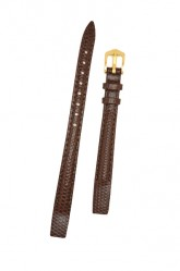 Hirsch 'Rainbow' M Brown Openended Leather Strap, 14mm
