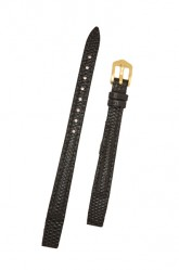 Hirsch 'Rainbow' M Black Openended Leather Strap, 14mm
