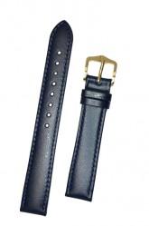 Hirsch 'Osiris' Blue Leather Strap, 15mm