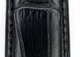 Hirsch 'Princess' Black Leather Strap, 18mm