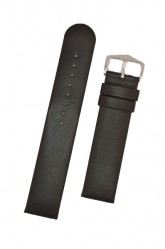 Hirsch 'Scandic' L Black leather watch strap, 22mm