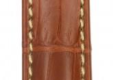 Hirsch 'Viscount' Golden Brown Leather Strap, 19mm