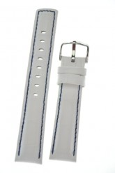 Hirsch 'Grand Duke' L High Tech 24mm White Leather Strap