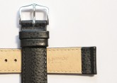 Hirsch 'Kansas' Black Calf Leather Strap, 18mm