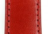 Hirsch 'Osiris' Red Leather Strap, 18mm