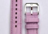 Hirsch 'Princess' Purple Leather Strap, 14mm