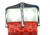 Hirsch 'Rainbow' M Red Leather Strap, 20mm