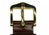 Hirsch 'Umbria ' M Brown Leather Strap, 14mm