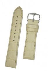Hirsch 'LouisianaLook' M Beige Leather Strap, 18mm