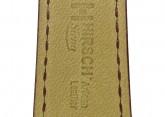 Hirsch 'Siena' L Burgundy, 20mm  Tuscan Leather Strap