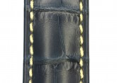 Hirsch 'Viscount' Blue Leather Strap, 19mm