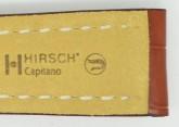 Hirsch 'Capitano' 24mm Matt Tan Alligator Leather Strap