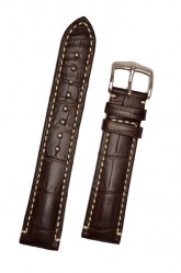 Hirsch 'Viscount' Brown Leather Strap, 20mm
