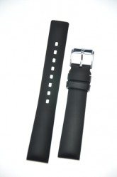 Hirsch 'Pure' 22mm Black Rubber Strap