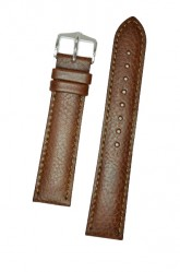 Hirsch 'Forest' L 20mm Brown Soft Calfskin Leather Strap