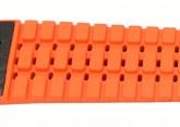 Hirsch 'Ayrton' Performance 24mm Black and Orange Strap