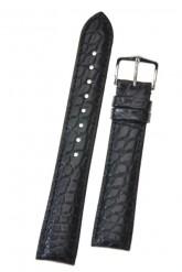 Hirsch 'Regent' Black Leather Strap, 20mm