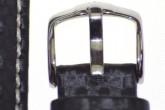 Hirsch 'Carbon' High Tech 18mm Black Leather Strap