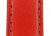 Hirsch 'Umbria ' M Red Leather Strap, 16mm