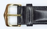 Hirsch 'Ascot' 16mm Black Leather Strap