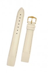Hirsch 'Rainbow' M White Openended Leather Strap, 14mm