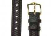 Hirsch 'Rainbow' Brown Leather Strap, 16mm