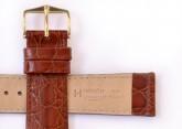 Hirsch 'Crocograin' Tan Leather Strap, 20mm