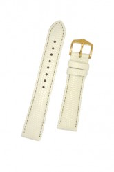 Hirsch 'Rainbow' M White Leather Strap, 18mm