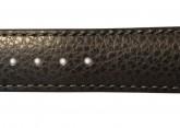 Hirsch 'Kansas' Black Calf Leather Strap, 22mm