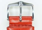 Hirsch 'LouisianaLook' M Red Leather Strap, 24mm
