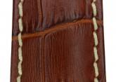 Hirsch 'Modena' Golden Brown Leather Strap, 22mm