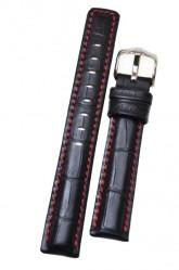 Hirsch 'Grand Duke' XL High Tech 24mm Black Leather Strap