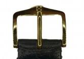 Hirsch 'Massai Ostritch'  M Black Leather Strap, 17mm