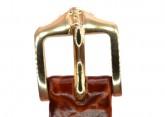 Hirsch 'Crocograin' Long Tan Leather Strap, 12mm