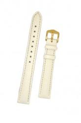 Hirsch 'Rainbow' M White Leather Strap, 14mm