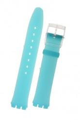 Swatch Blue Rubber Skin Strap  Blue Classiness ASFK363