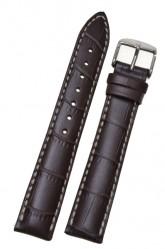 Hirsch 'Modena' Brown Leather Strap, 24mm