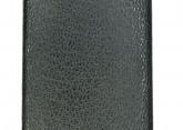 Hirsch 'Scandic' Black, leather watch strap 22mm