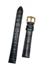 Hirsch 'London' M Blue Leather Strap, 14mm