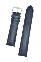 Hirsch 'Highland' L Blue, leather watch strap 24mm