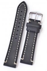 Hirsch 'Liberty' 24mm Black Leather Strap