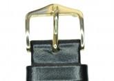 Hirsch 'Italocalf' Black Leather Strap, L,  24mm