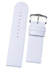 Hirsch 'Scandic' White Leather Watch Strap 26mm