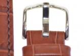 Hirsch 'Grand Duke' 20mm  Mid Brown Leather Strap